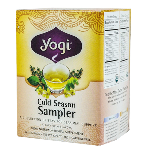 Yogi tea cold season tea sampler 16 | smallflower. Com.